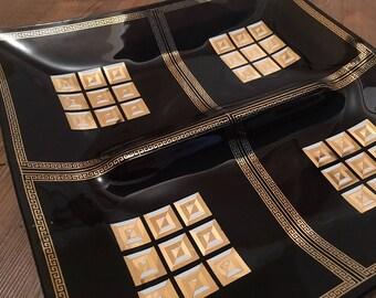SALE - MidCentury Modern Molded Glass Decorative Tray