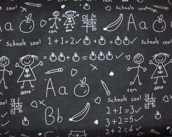"""Michael Miller Fabric by the Yard - """"At the Blackboard"""""""