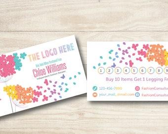 Flowers Punch Card//Fashion Retailer Punch Card//LulaRoe Punch Card