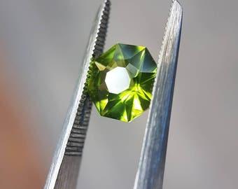 Precision cut Peridot 1.4 carat