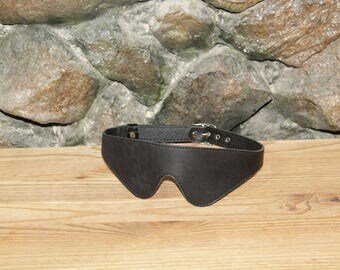 ADULT - BDSM Leather Blindfold