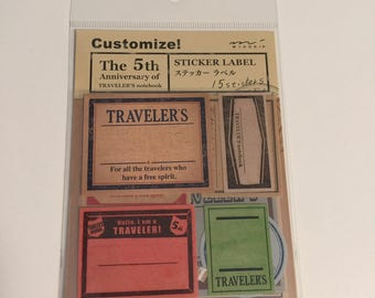 Traveler's Notebook Vintage Travel Labels
