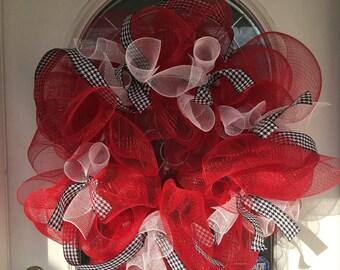 Deco Mesh Alabama Wreath, Alabama, Crimson Tide, Football Wreath, College Wreath, Alabama Wreath, Sports Wreath, Deco Mesh Wreath