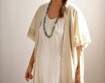 DERVISH Kaftan - Green Stripe