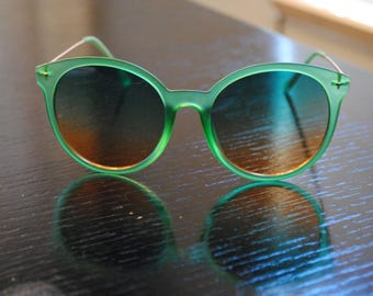 Green Ombre Sunglasses