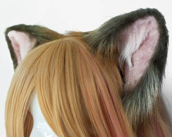 Baby Ginger Fox Fur Ears Headband