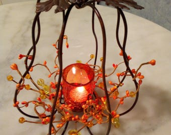 Tealights in wrought iron