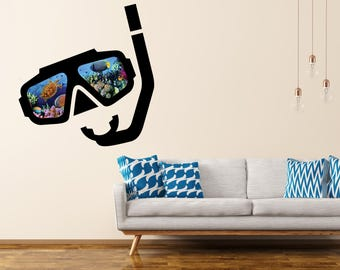 Wall decal coral reef