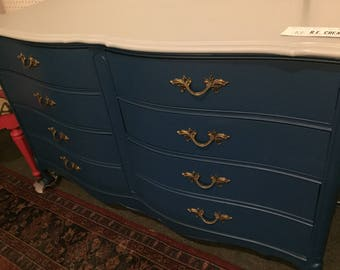 SOLD-francis long- salvaged painted dresser.  CUSTOM PAINT