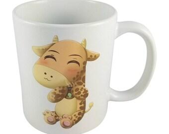 Cute Kawaii Chibi Giraffe Mug