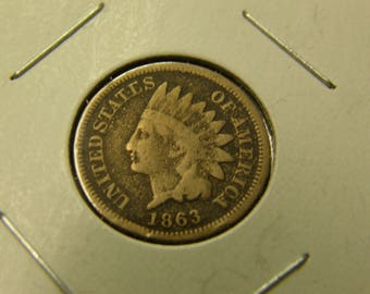 Nice 1863 Indian Head Cent - Civil War Era Coin