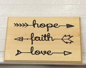 HOPE, FAITH, LOVE Arrows