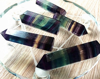 Natural crystal column colorful Fluorite Crystal Calcium fluoride
