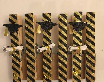 Graduation Themed Decorative Clothespins