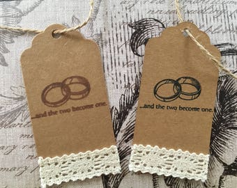 Rustic Wedding Favor Tags