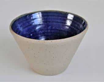 Handmade Speckled Blue Stoneware Bowl