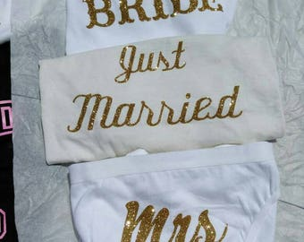 Customized for the BIG Day!! Bikini,or Hipster Panties. Express your Love why not show your love from the inside out