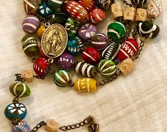 Distressed Clay Rosary
