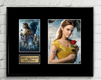Belle - Beauty and the Beast - Emma Watson Signed Poster Art Print Artwork - Disney Princess Movie