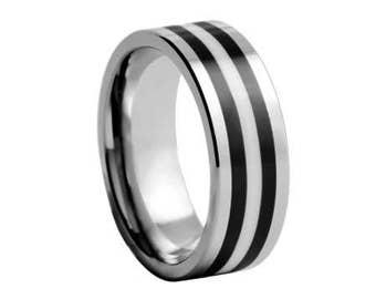 Tungsten Carbide Wedding Ring Band, Wedding Band, Wedding ring, Mens ring, smooth ring, anniversary ringfashion, man, stylish, strong
