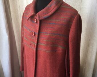 Lovely Italian Vintage 60s Burnt Orange Spring Coat