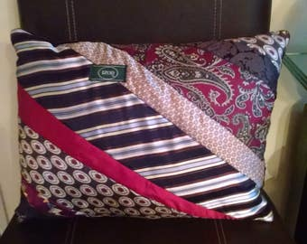Handmade Vintage Necktie Pillow