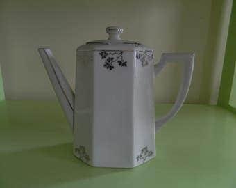 Teapot porcelain Limoges - Limoges porcelain Teapot