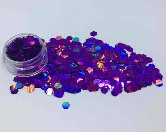 Holographic Purple Cosmetic Grade Festival Glitter - Cruelty Free