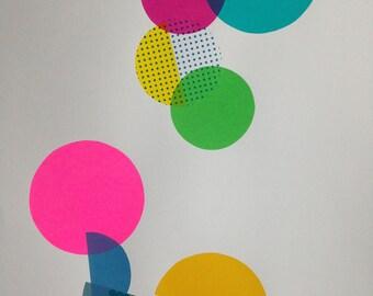 Screenprint in vibrant colours