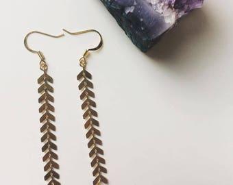 Chevron Dangle Drop Earrings
