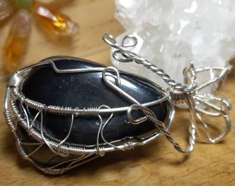 Hematite pendant in polished