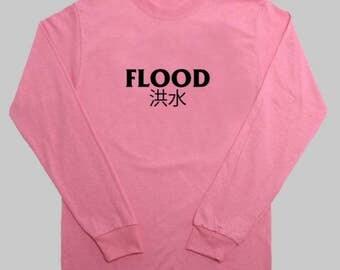 FLOOD pink L/S Tee