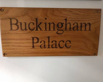 Large Bespoke Wooden House Number / Name Personalised Solid Oak