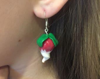 Radish Earrings,