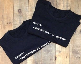 Black t-shirts with messages