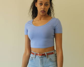 10 DOLLAR SALE periwinkle cropped top / S