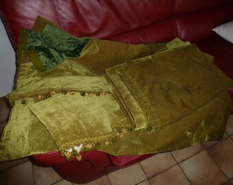 Vintage velvet curtains / green velvet curtains / Green Velvet / velvet window panels / Drapes velvet / home & living /Rideaux.