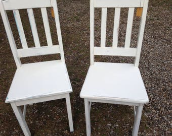 Chair set, 2 he, dining room chair, kitchen Chair, desk chair, decorating old wooden chair