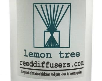 8 oz Lemon Tree Fragrance Reed Diffuser Oil Refill - Made in the USA
