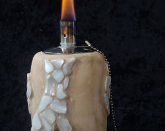 "Oil lamp ""Sand dune"" with mother of pearl mosaic"