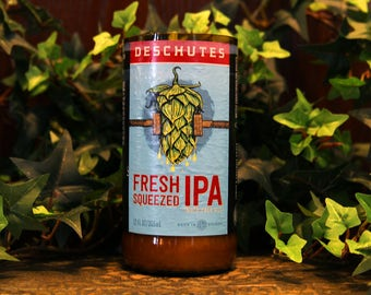 Deschutes Fresh Squeezed IPA - Recycled Beer Candle