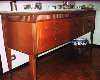 Elegant dresser with marble top, 6 drawers, bedroom 60 Years