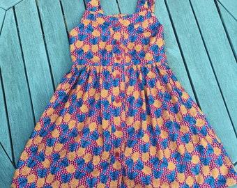Retro button down dress