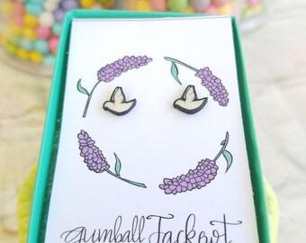 Handmade Dove Earrings