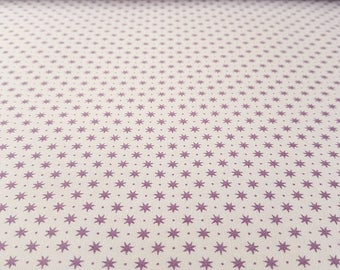 Purple Stars French Cottage Fat Quarter Cotton Fabric Ring a Roses by Gutermann (UK)