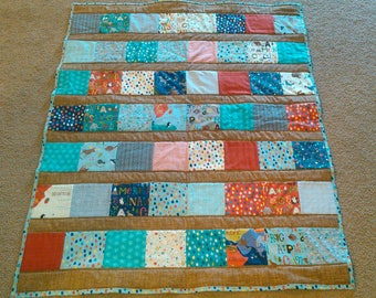 Animal crib nursery quilt
