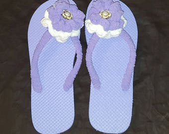 Decorative Crochet Flip Flops