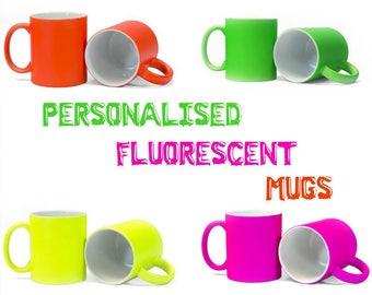 Personalised Fluorescent Mug | Gift | Unique | Colourful