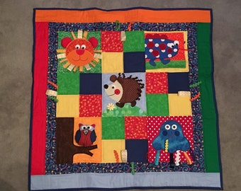 Infant play quilt