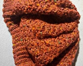 Purple Flecked Crochet Beret
